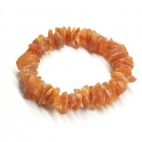 10 Raw Honey Color Baltic Amber Adult Healing Bracelet Elastic