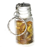 Keyring With Amber In The Bottle