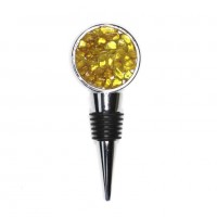 Bottle Stopper With Natural Batter Baltic Amber Pieces