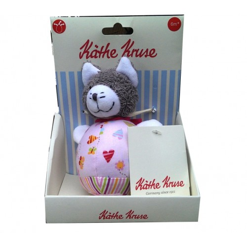 Kathe Kruse In The Garden Musical Plush Toy, Roly Poly Cat