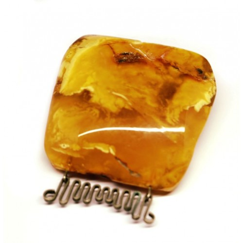 Antique Vintage USSR Period Butterscotch Baltic Amber Brooch /Pin 23g
