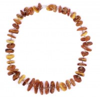 Vintage Flat Polished Baltic Amber Beads Necklace Butterscotch and Cognac Color 39g  47 cm (18.50 in)