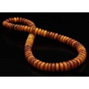 Vintage Russian Baltic Amber Necklace Butterscotch Honey color  71g  54 cm (21.26 in)