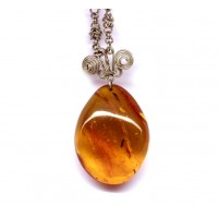 Vintage Russian Honey Color Baltic Amber Pendant