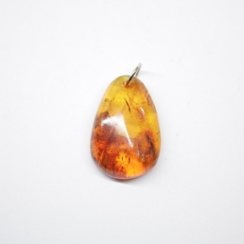 Small Vintage Russian Honey Color Baltic Amber Pendant