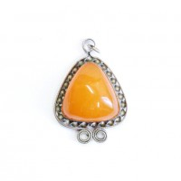 Genuine Vintage Russia 1960's Butterscotch Eggy Yolk Baltic Amber Pendant 62