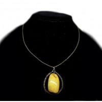 Vintage Butterscotch egg Yolk Color Baltic Amber Pendant 81