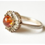 Antique amber rings