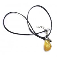 Honey Color Baltic Amber Amulet Pendant 30