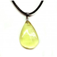 Lemon Color Baltic Amber Amulet Pendant 45