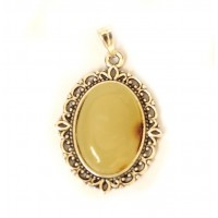 Polished Milky Color Baltic Amber Pendant 49