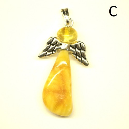 "Baltic Amber Amulet Pendant ""Guardian Angel"""
