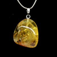 Baltic Amber Pendant Lemon Color