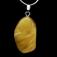 Vintage Russian Drop shape Butterscotch Color Baltic Amber Pendant